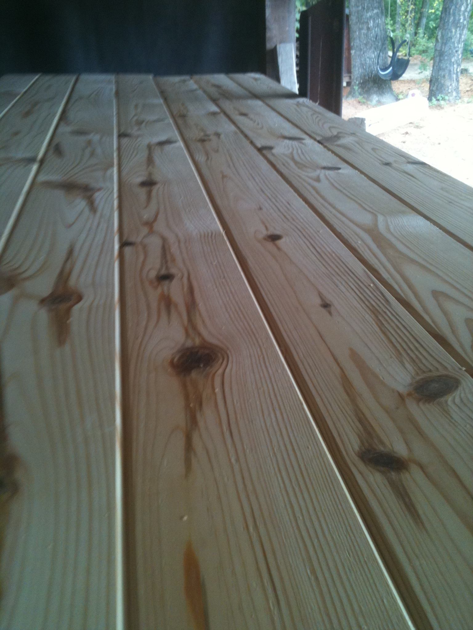Knotty Yellow Pine And Red Cedar Log Siding V Groove
